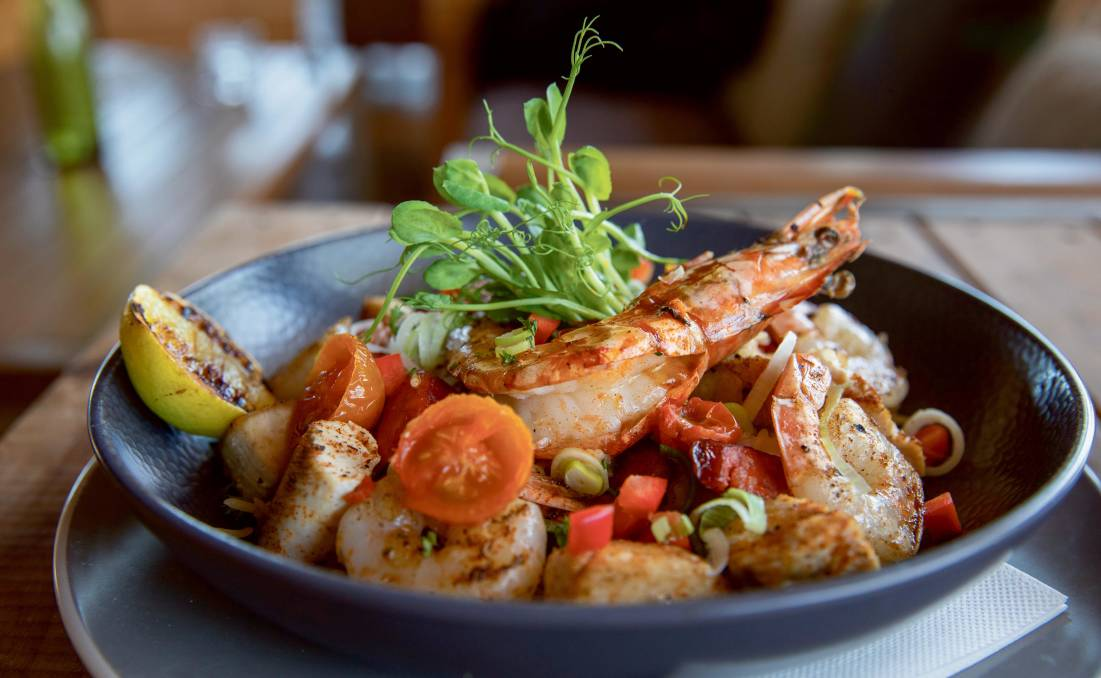 The local cuisine - such as this from Zanders - is mouthwatering